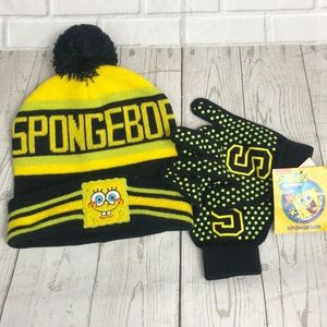 Spongebob SquarePants Beanie Matching Gloves